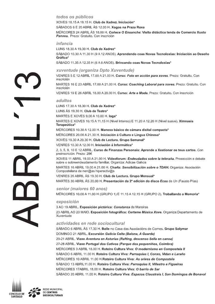 programacion abril
