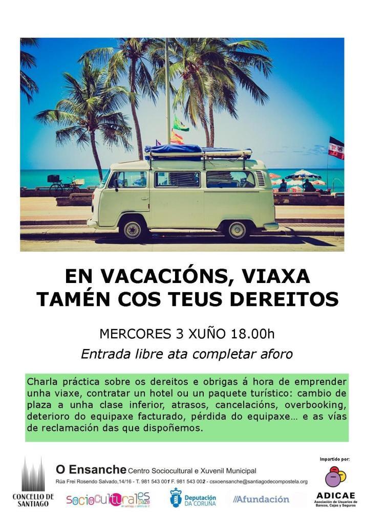 charla adicae nas vacacións viaxa cos teus dereitos