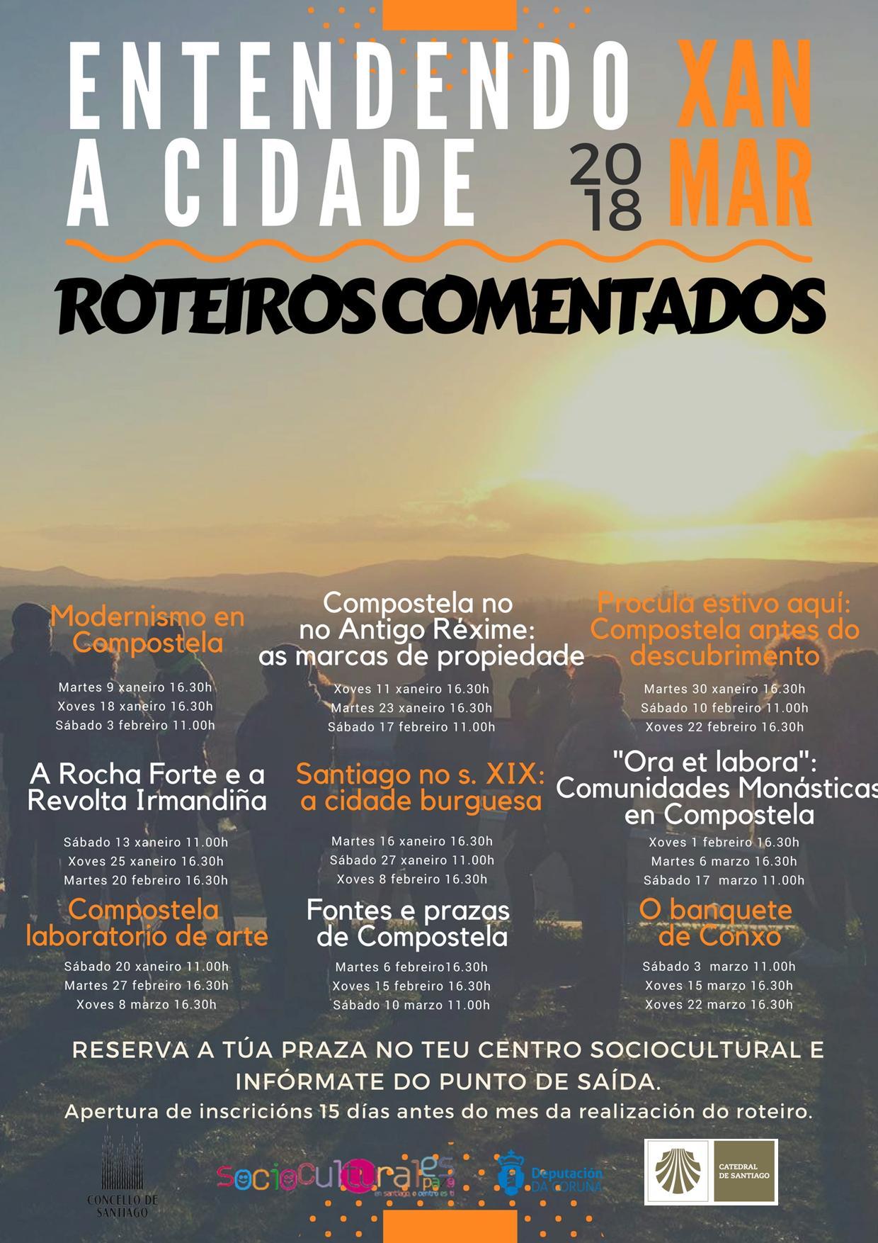 Entendedo a cidade: roteiros e charlas de memoria e historia (xaneiro a marzo 2018)